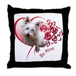 Valentine Terrier Throw Pillow