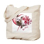 Valentine Terrier Tote Bag