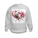 Valentine Terrier Kids Sweatshirt