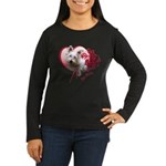 Valentine Terrier Women's Long Sleeve Dark T-Shirt