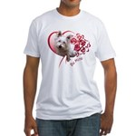 Valentine Terrier Fitted T-Shirt