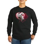 Valentine Terrier Long Sleeve Dark T-Shirt