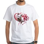 Valentine Terrier White T-Shirt