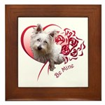 Valentine Terrier Framed Tile