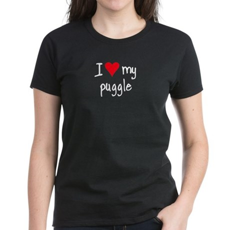 I LOVE MY Puggle Women's Dark T-Shirt