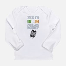 Yes Im Irish, Yes I love Hockey Long Sleeve T-Shir