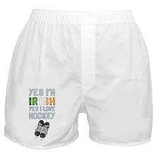 Yes Im Irish, Yes I love Hockey Boxer Shorts