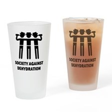 Society Against Dehydration (Black) Drinking Glass