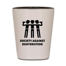Society Against Dehydration (Black) Shot Glass