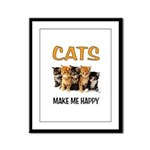 HAPPY CATS Framed Panel Print