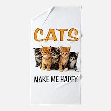 HAPPY CATS Beach Towel