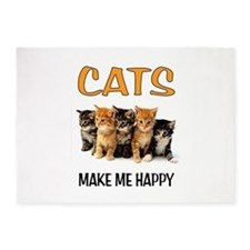 HAPPY CATS 5'x7'Area Rug