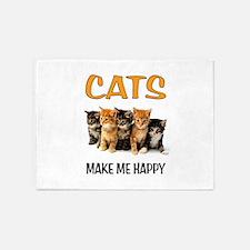 HAPPY CATS 5'x7'Area Rug