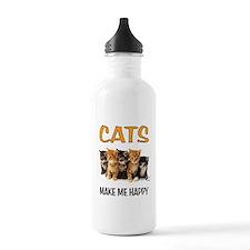 HAPPY CATS Water Bottle