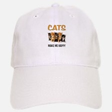 HAPPY CATS Baseball Baseball Baseball Cap