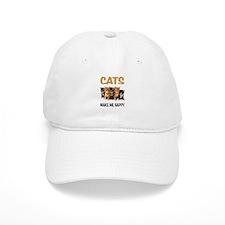 HAPPY CATS Baseball Baseball Cap