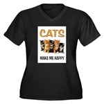 HAPPY CATS Plus Size T-Shirt