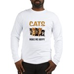 HAPPY CATS Long Sleeve T-Shirt
