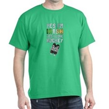 Yes Im Irish, Yes I love Hockey T-Shirt