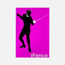 iFence pink - Rectangle Magnet