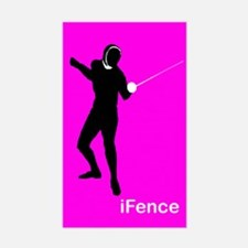 iFence pink - Rectangle Decal
