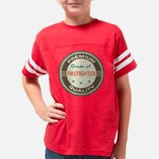 Funny Firefighter Grade A Vin Youth Football Shirt