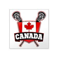 Canadian Flag Lacrosse Logo Sticker