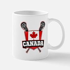Canadian Flag Lacrosse Logo Mugs