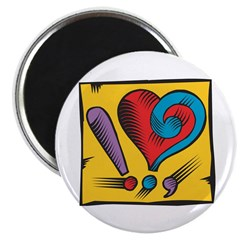 Heart Question Exclamation Magnet
