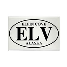 Elfin Cove Rectangle Magnet