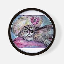 Cat! Beautiful animal art! Wall Clock