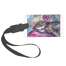 Cat! Beautiful animal art! Luggage Tag