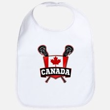 Canadian Flag Lacrosse Logo Bib