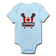Canadian Flag Lacrosse Logo Body Suit