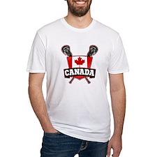 Canadian Flag Lacrosse Logo T-Shirt