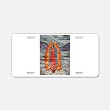Our Lady of Guadalupe (Papyrus) Aluminum License P