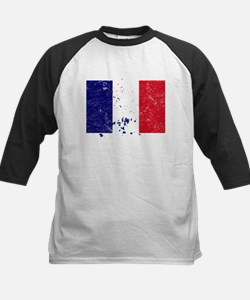 French Flag (Punk) Kids Baseball Jersey