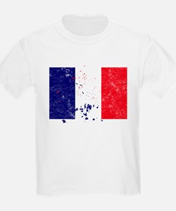 French Flag (Punk) Kids T-Shirt