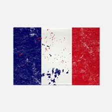 French Flag (Punk) Rectangle Magnet