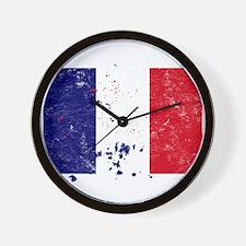 French Flag (Punk) Wall Clock
