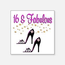 "16TH BIRTHDAY Square Sticker 3"" x 3"""