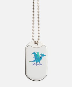 Cute Blue Dragon Dog Tags