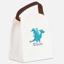 Cute Blue Dragon Canvas Lunch Bag