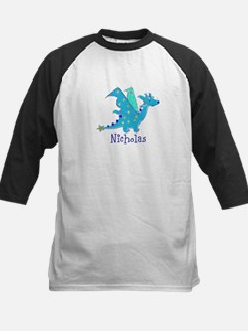 Cute Blue Dragon Baseball Jersey