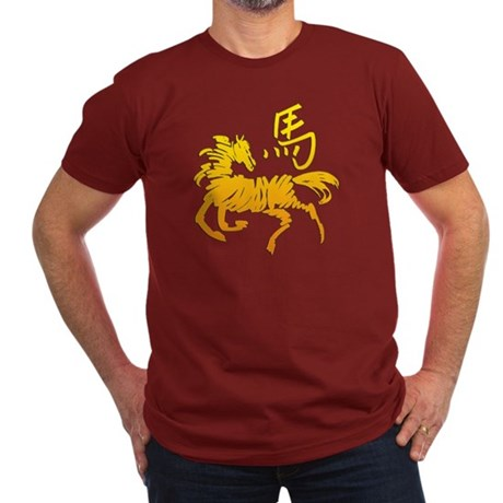 Year Of The Horse Men's Fitted T-Shirt (dark)