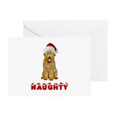 Naughty Goldendoodle Greeting Card