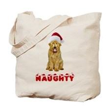 Naughty Goldendoodle Tote Bag
