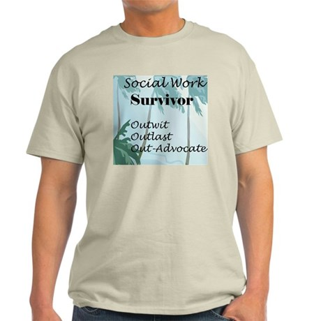 Social Work Survivor Ash Grey T-Shirt