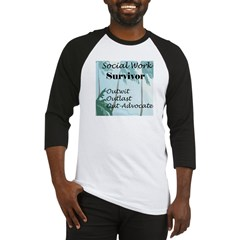 Social Work Survivor Baseball Jersey