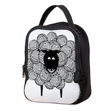 Yarny Sheep for Lights Neoprene Lunch Bag